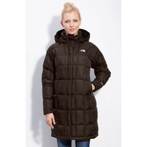 The North Face 600 Deep Dark Brown Long Puffer EUC
